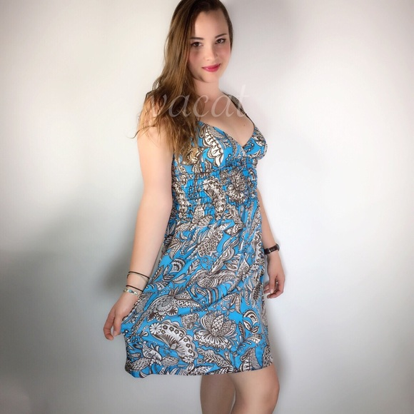 Trina Turk Dresses Blue Silk Sundress Poshmark